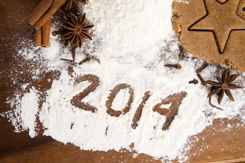 Inskriften på mjölet - 2014 royaltyfria foton