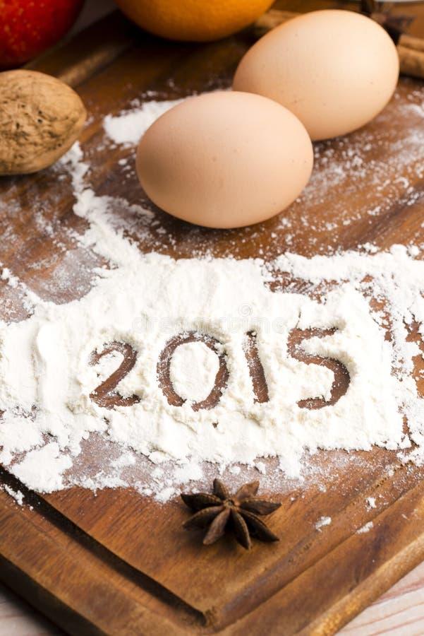 Inskriften på mjölet - 2015 royaltyfria foton