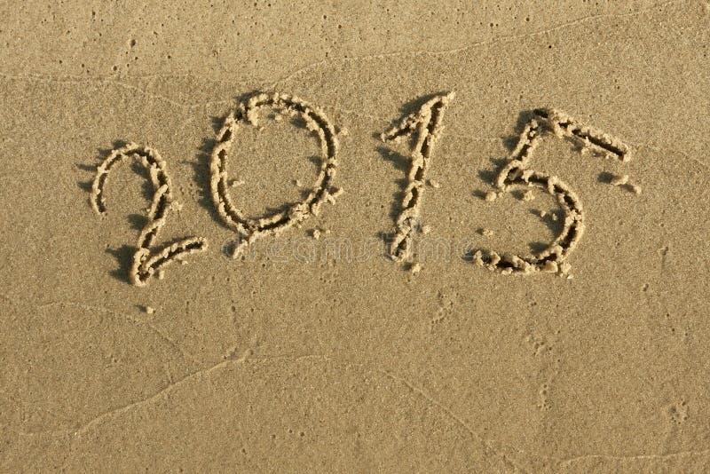 Inskriften på sanden 2015 royaltyfri bild