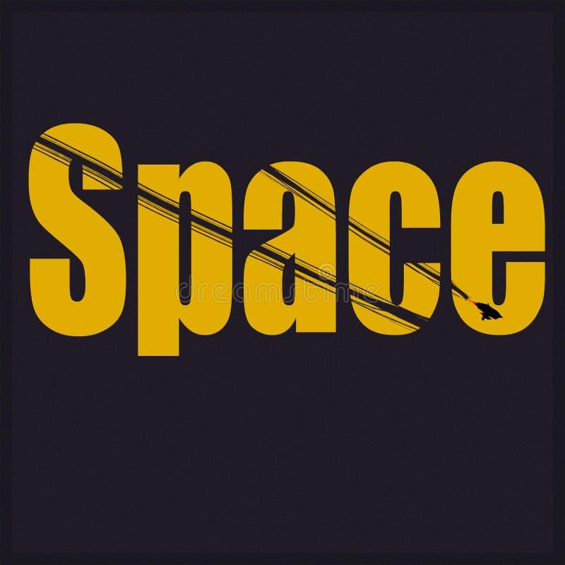 Inskrypcja jest przestrzenią żółty kolor na ciemnym tle fotografia royalty free