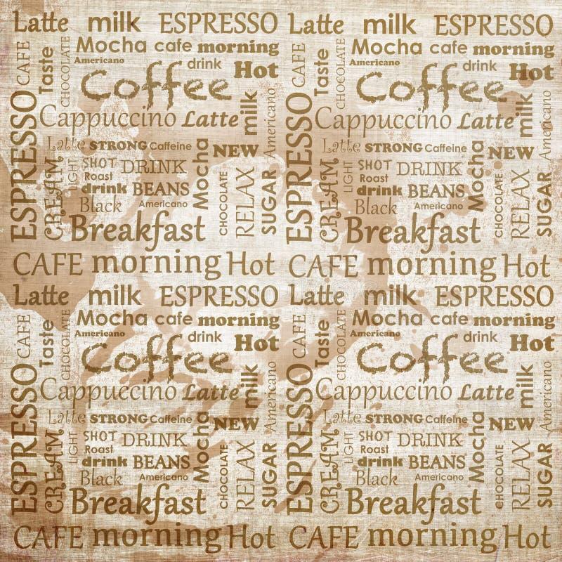 Inskrypcje odnosić sie kawa ilustracja wektor
