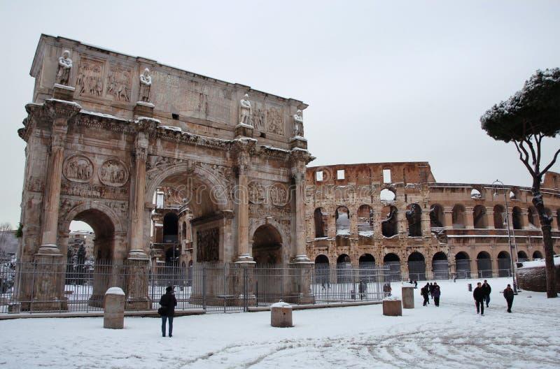 Insnöade Rome royaltyfri bild