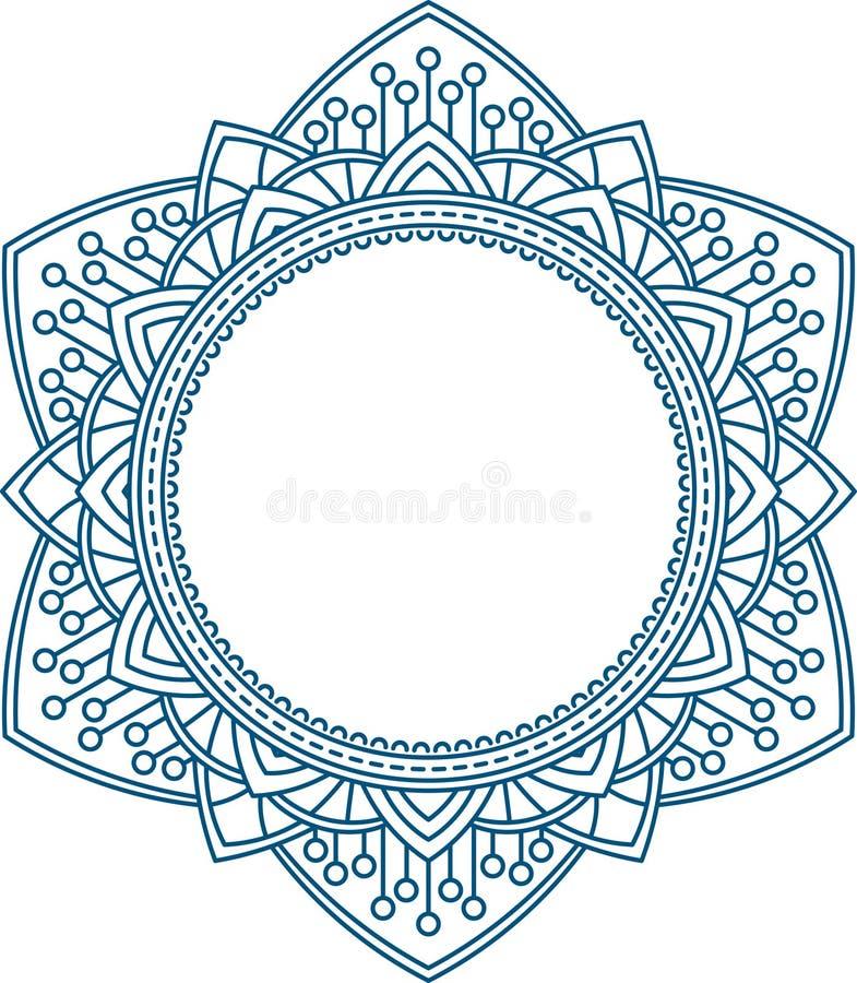 Insolito, esagonale, struttura del pizzo, elemento decorativo con il pl vuoto illustrazione vettoriale