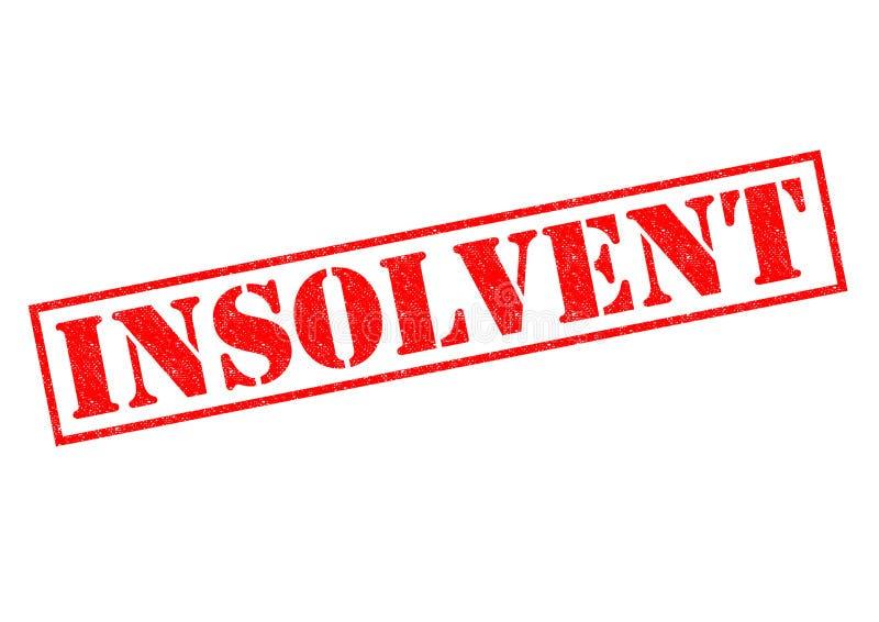 insolvente stock de ilustración