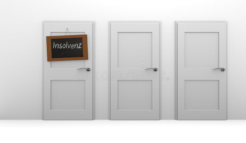 insolvibilità royalty illustrazione gratis