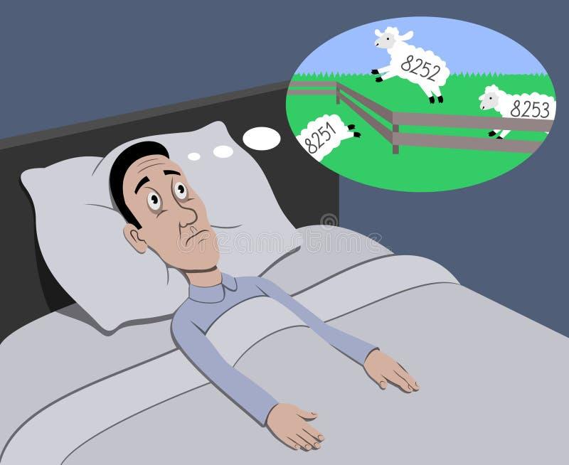 insomnia royaltyfri illustrationer