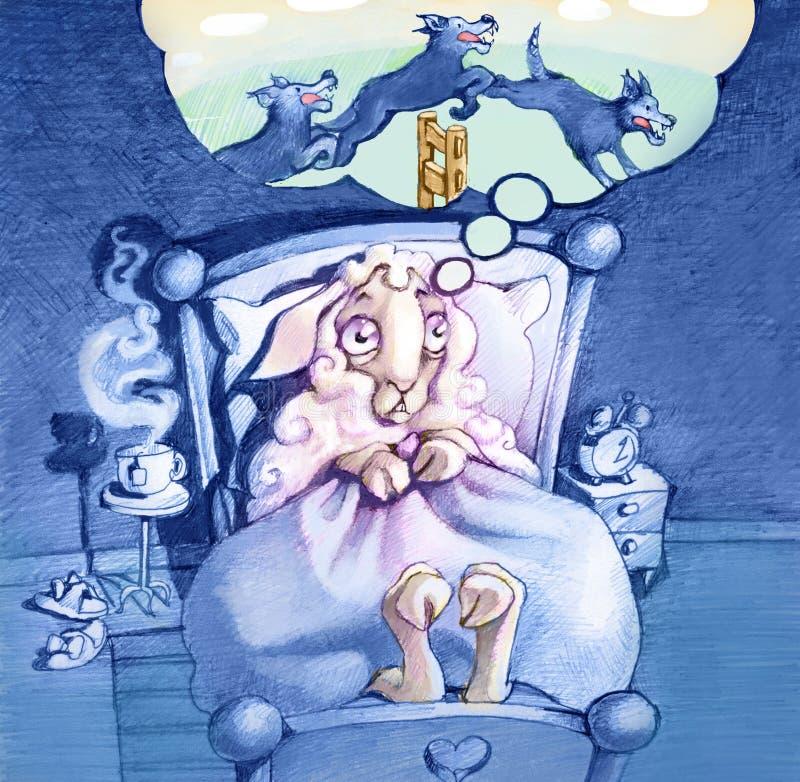 insomnia vektor illustrationer