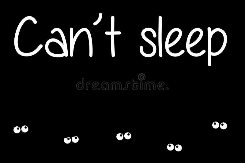 insomnia ilustração royalty free