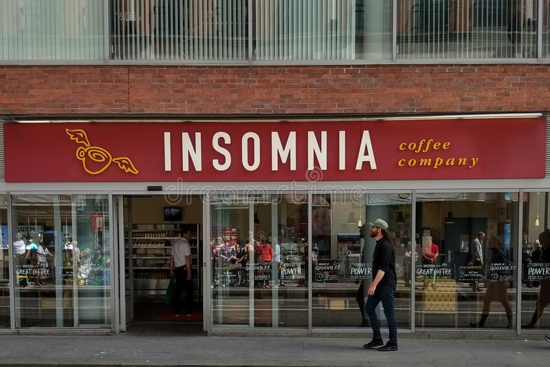 Insomnia Coffee Company store in Dublin stock images