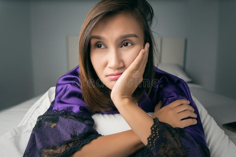 Insomnia Or Hungry royalty free stock images