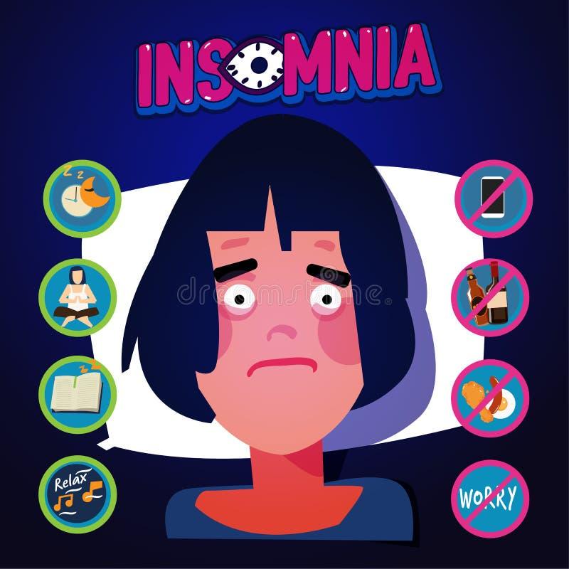 Insomnia infographic. sleep healthcare - vector illustration vector illustration