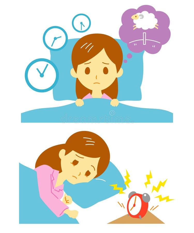 Insomnia, sleeplessness, woman. Insomnia sleeplessness, woman, file royalty free illustration