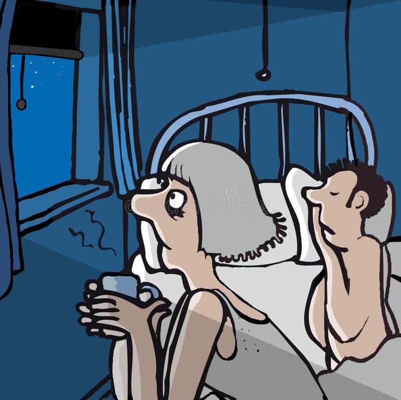 Insomnia stock illustration