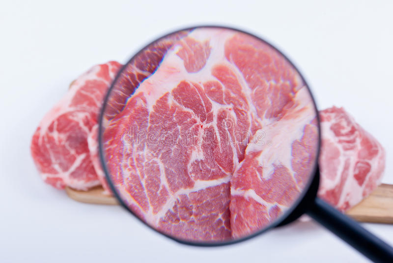 Inspeção da carne imagem de stock