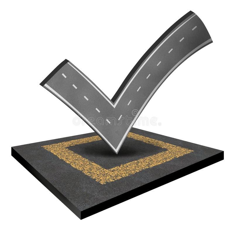 Inspeção da estrada ilustração stock