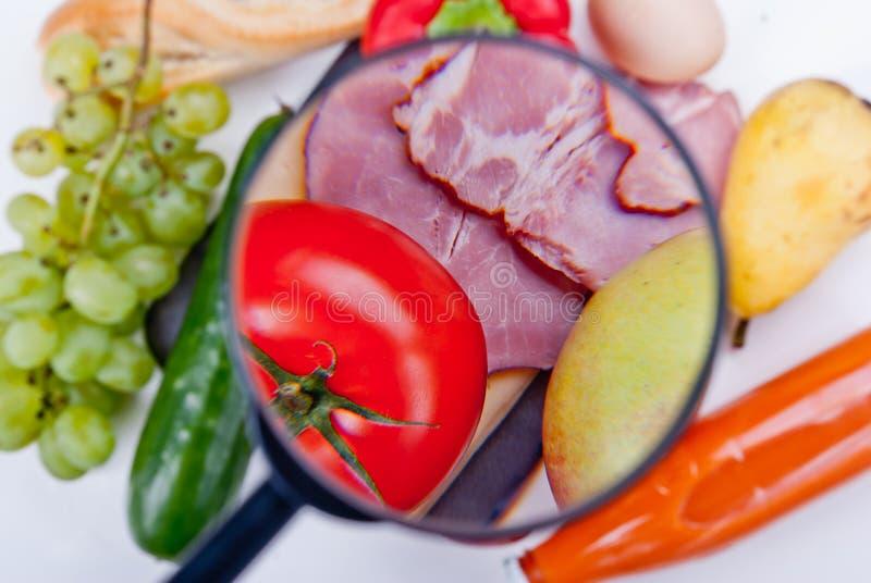 Inspeção de alimento imagem de stock
