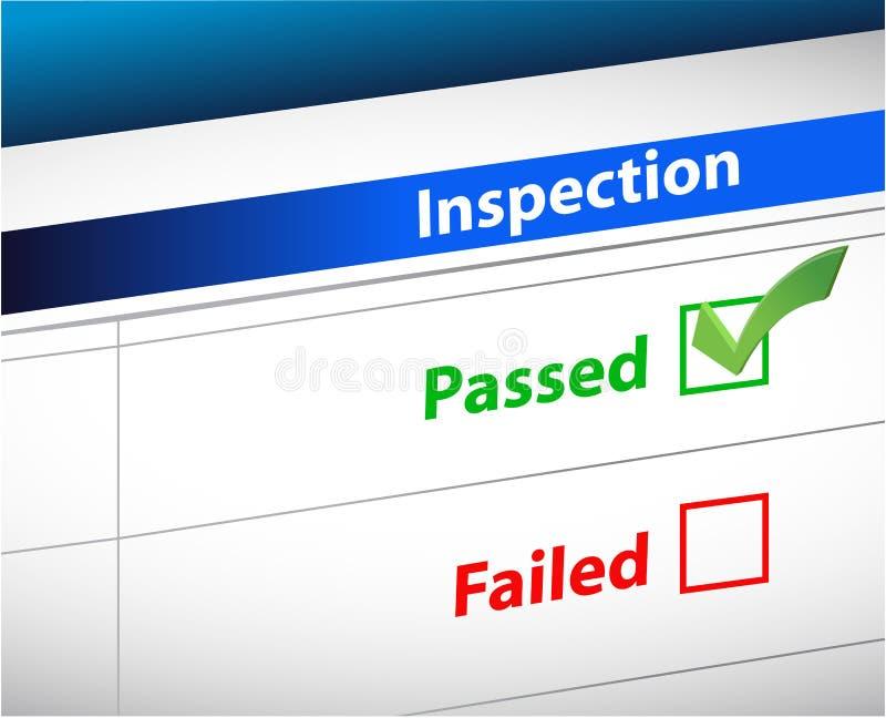 A inspeção resulta documento do negócio ilustração royalty free