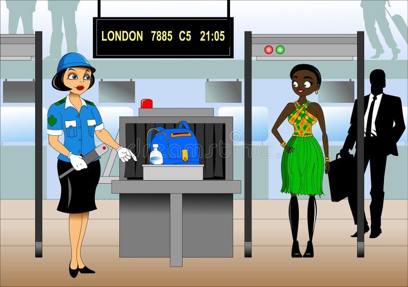 Inspe??o da bagagem ilustração royalty free