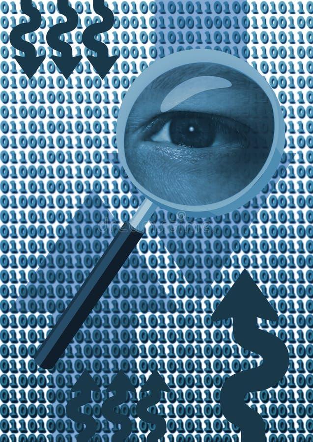 Inspecterend oog stock illustratie