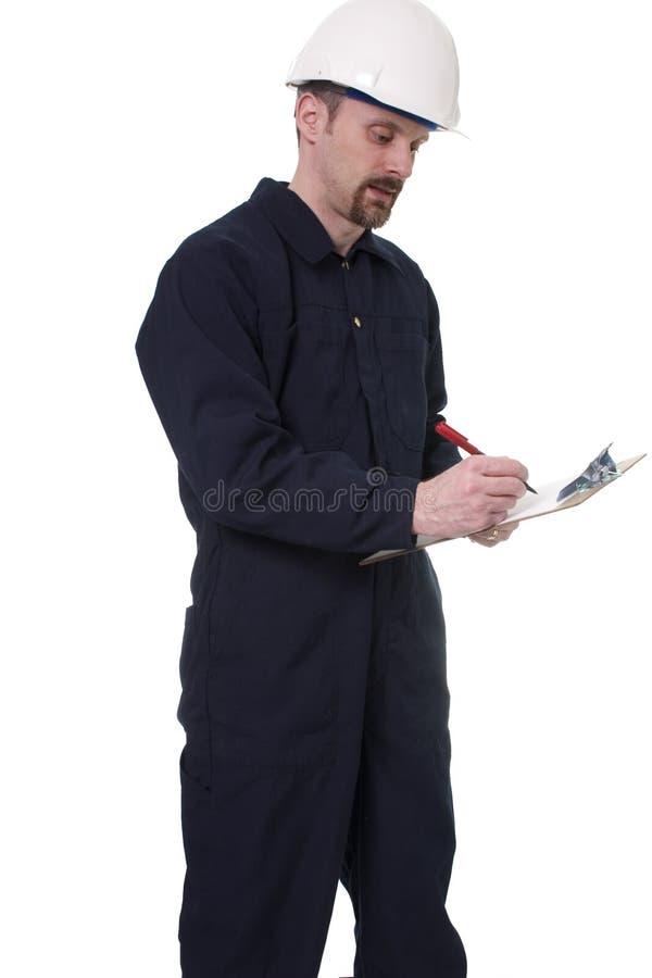 Inspecteur op het werk royalty-vrije stock afbeelding