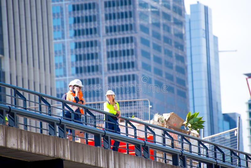 Inspecteurs au lieu de travail image libre de droits