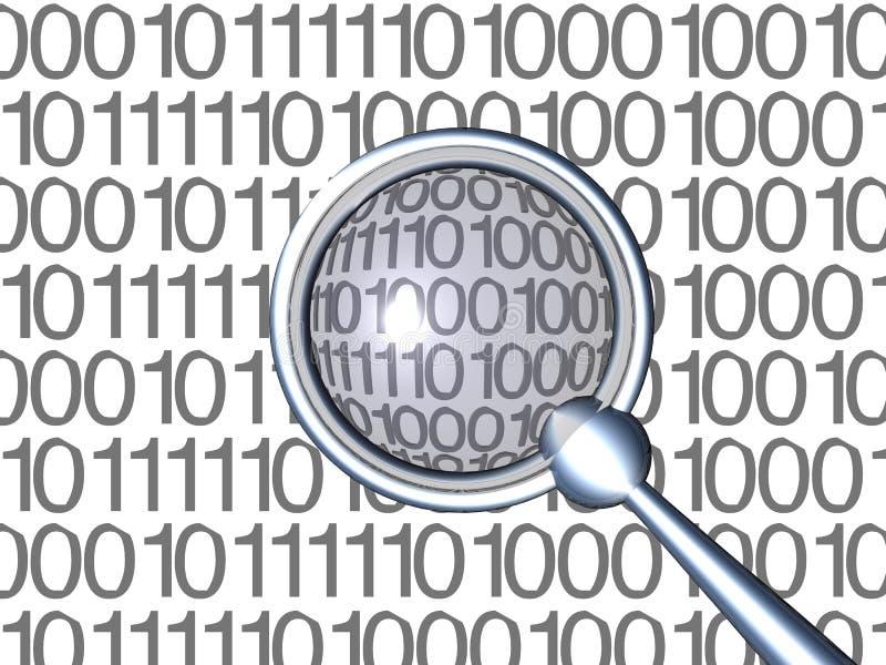 Inspecting Binaries - White 1 royalty free stock image