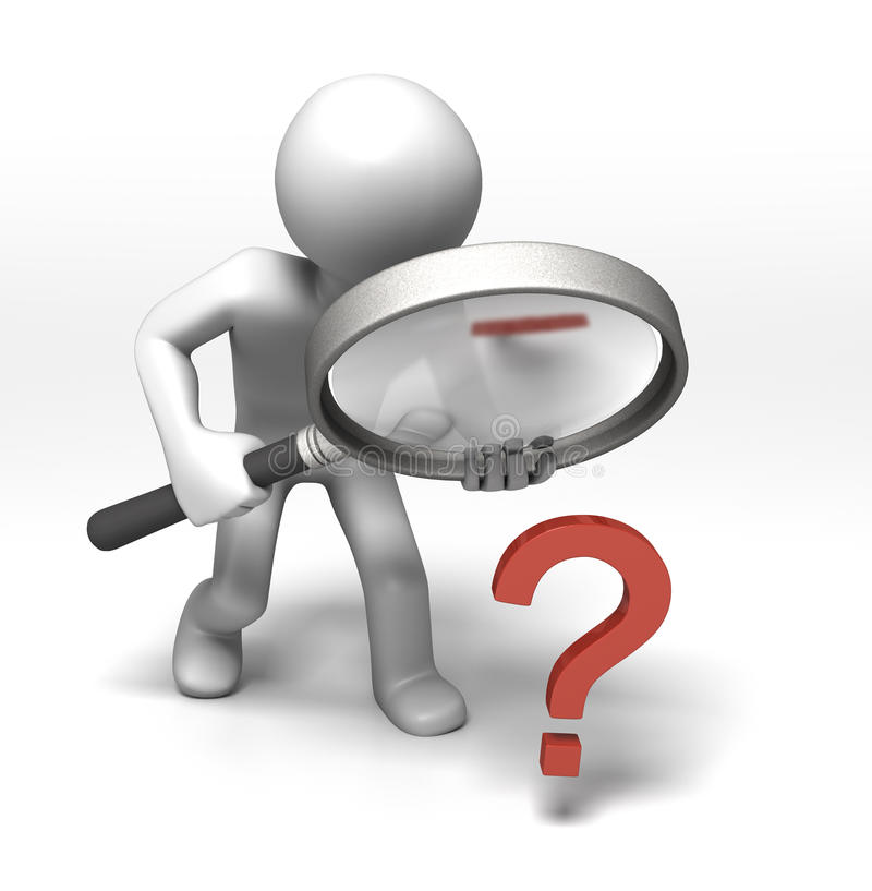 Download Inspecting the Question stock illustration. Illustration of mark - 12839414