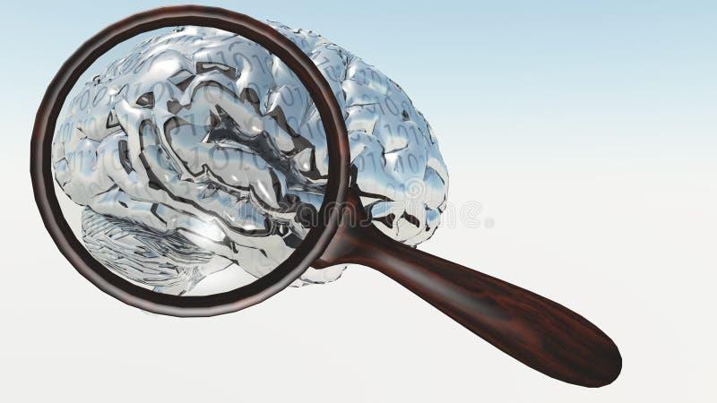 Download Inspection of Binary Brain stock illustration. Illustration of information - 39509639