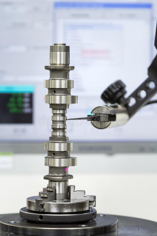 Free Inspection Cam Shaft Of Machining Process Royalty Free Stock Photo - 44435895