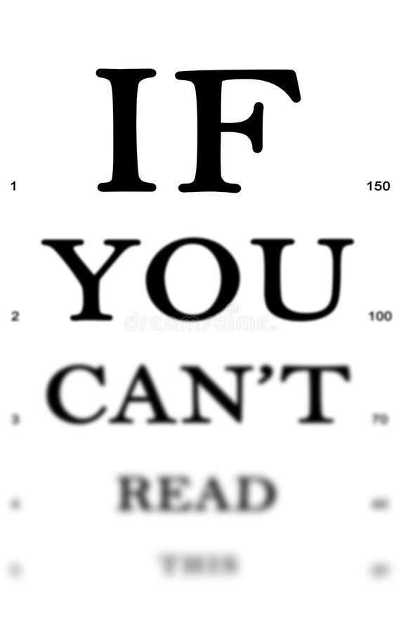 Inspection d'oeil illustration libre de droits