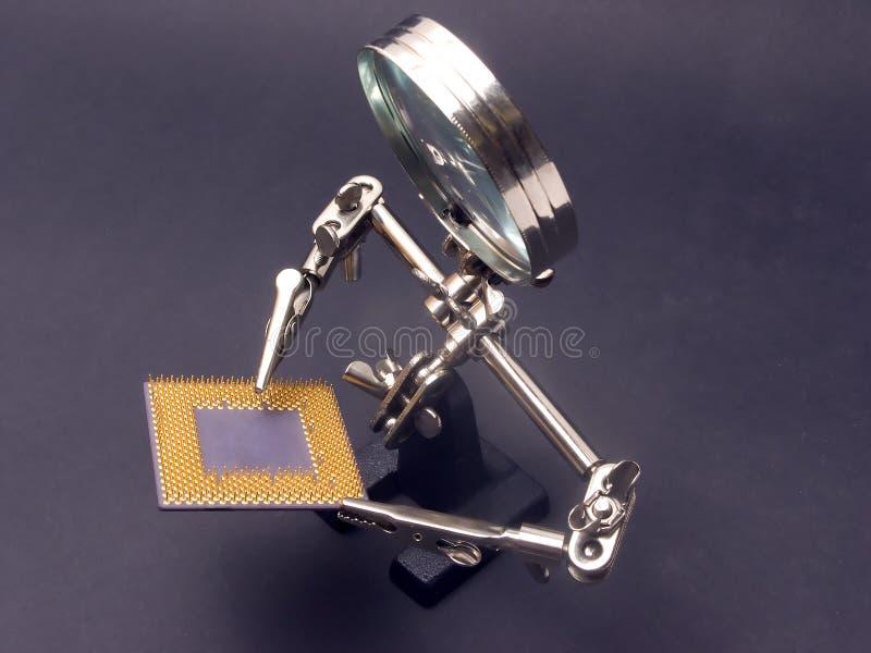 Inspection de processeur images libres de droits