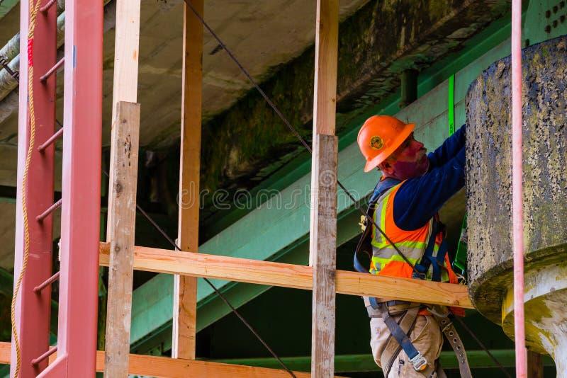 Inspection et réparations de pont photographie stock libre de droits