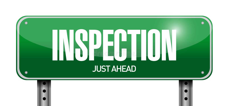 Inspection road sign illustration design. Over a white background stock illustration