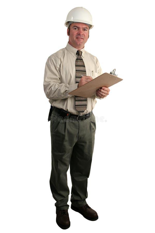 Inspector 1 de la construcción imagenes de archivo
