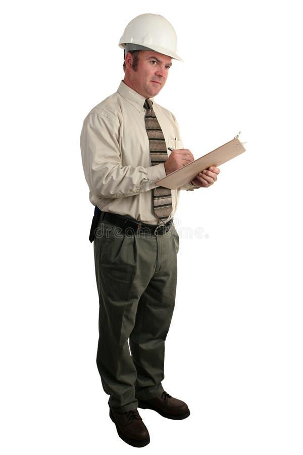 Inspector 2 da construção foto de stock royalty free