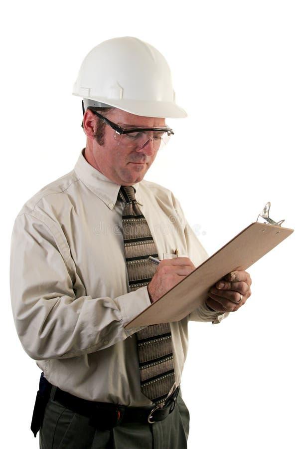 Inspector 4 da construção foto de stock