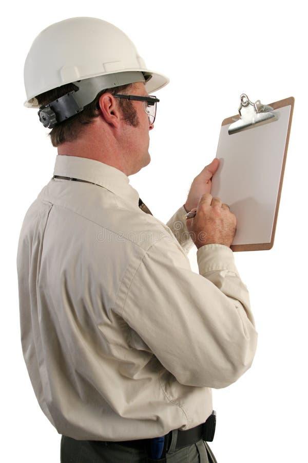 Inspector 5 da construção fotografia de stock