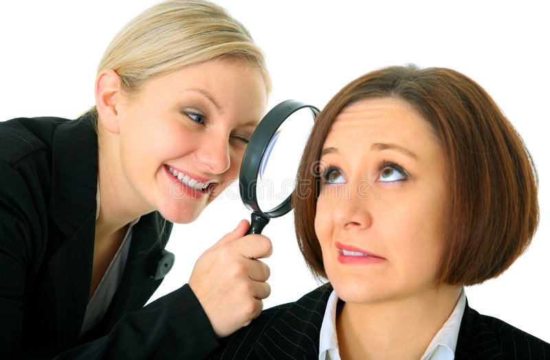 Download Inspector Analyze Businesswoman Stock Image - Image: 7619711