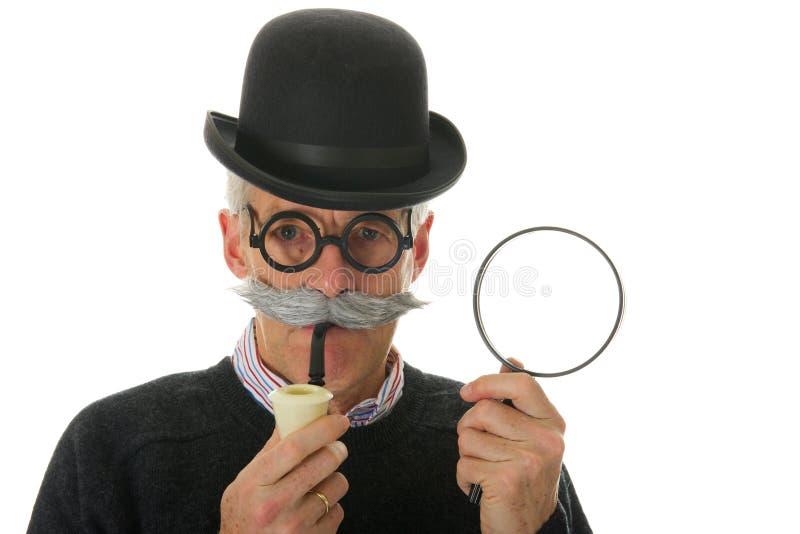 Inspector com magnifier foto de stock royalty free