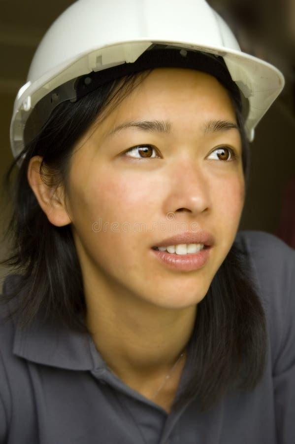 Inspector/coordenador fêmeas foto de stock