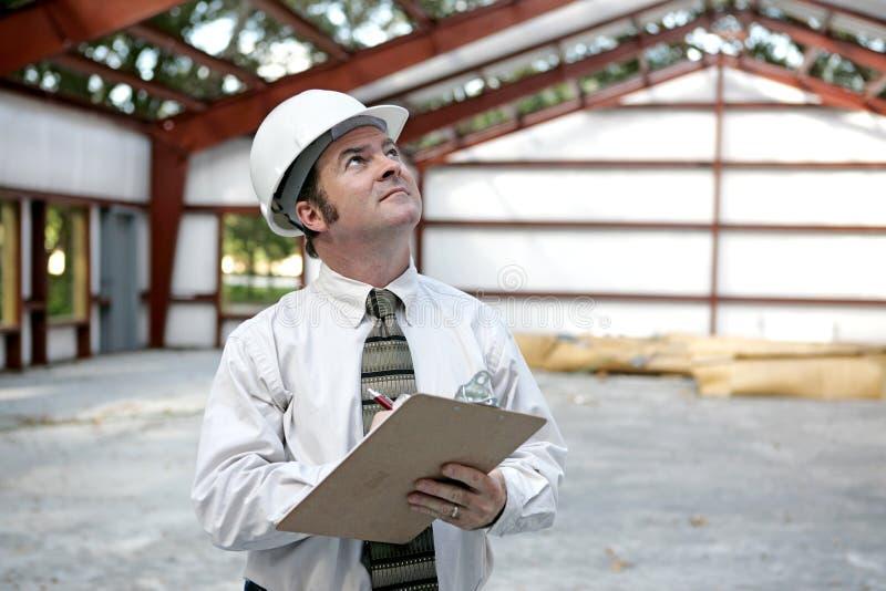 Inspector de edificio imagenes de archivo