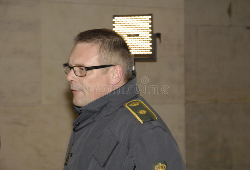 INSPECTOR DE POLÍCIA PRINCIPAL DE TOBEN MOLGAARD JENSEN imagem de stock