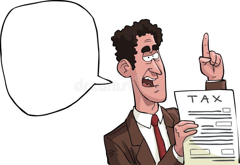 Inspector del impuesto stock de ilustración
