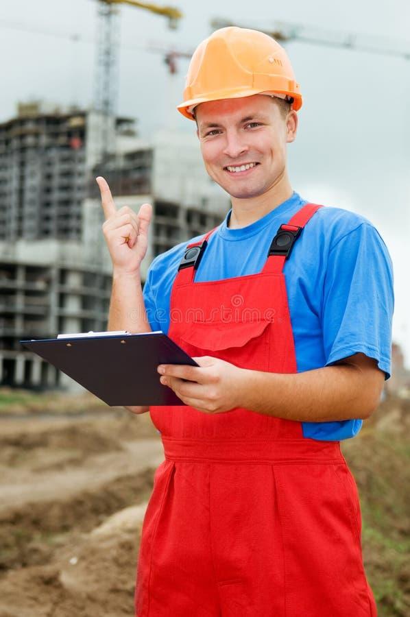 Inspector do construtor com idéia imagem de stock