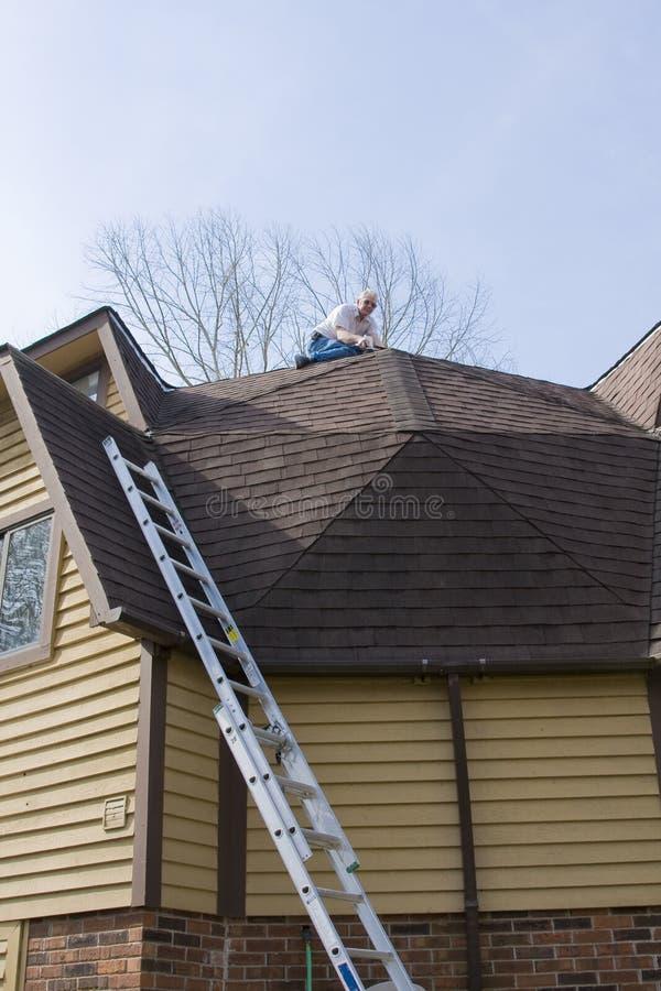 Inspector do telhado imagem de stock royalty free