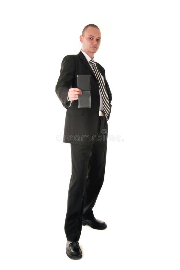 Inspector financiero en equipo del asunto imagenes de archivo