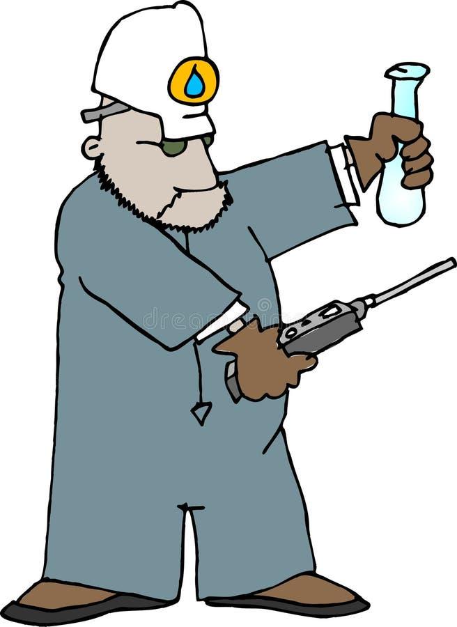inspektorska ilości wody royalty ilustracja