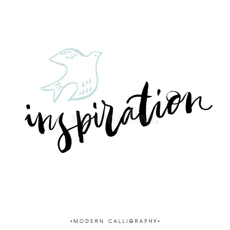 inspiração Caligrafia moderna da escova Rotulação escrita à mão da tinta ilustração stock