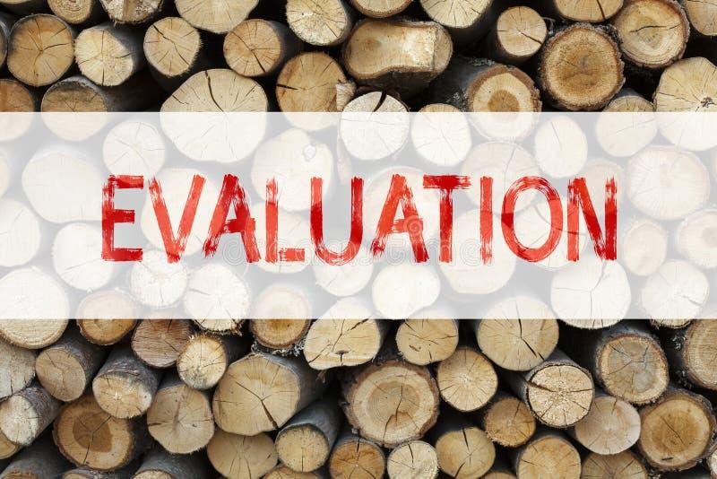 Inspiração conceptual do subtítulo do texto do anúncio que mostra o conceito do negócio da avaliação para o feedback do desempenh foto de stock royalty free