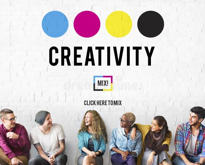 A inspiração da aspiração da faculdade criadora inspira o conceito das habilidades fotos de stock
